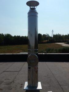 Nerezový komínový nástavec s kontrolním otvorem